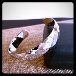 Monet Silver Toned Cuff Bracelet